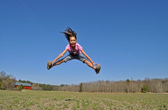 Split jump Stock Image