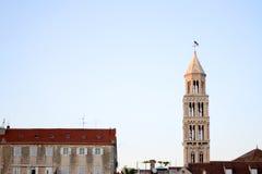 Split landmark: Saint Domnius bell tower Stock Image
