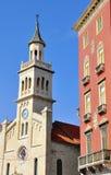 Split landmarks Royalty Free Stock Images