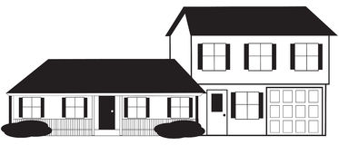 Split Level House Sketch with  Stock Photos