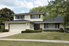 Split level suburban home Stock Images