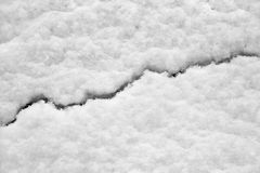 Split line in snow. Wnter background. Royalty Free Stock Photos