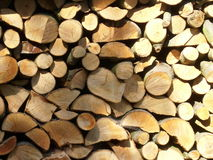 Firewood log stack Stock Images