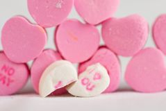 Split Love Hearts Stock Photo