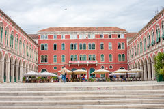 Split, Mediterranean square Royalty Free Stock Images