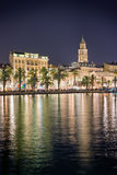 Split at night Royalty Free Stock Images