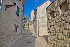 Split old historic stone street. Dalmatia, Croatia stock image