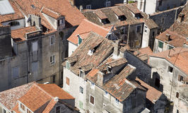 Split - old roof of mediterranean town Stock Photo
