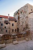 Split. Old town and ruins Diocletians palace Stock Images