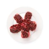 Split open pomegranate fruit Royalty Free Stock Photos