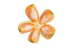 Split an orange to five segments Stock Photo