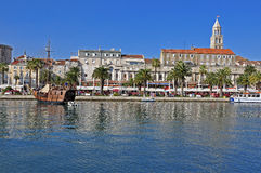 Split: palace and cathedral Stock Image