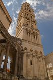 Split - palace of Emperor Diocletian - clock tower Stock Photography