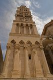 Split - palace of Emperor Diocletian - clock tower Stock Photos