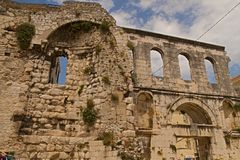 Split - palace of Emperor Diocletian exteriers Stock Images