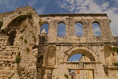 Split - palace of Emperor Diocletian Royalty Free Stock Photos