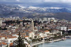Split - panorama. Panorama of Split seeing from the hill Stock Images