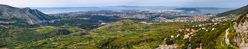 Split panorama - Croatia Royalty Free Stock Photography