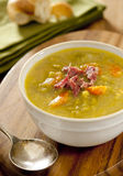 Split pea and ham soup Stock Photography