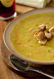 Split pea and ham soup Royalty Free Stock Image