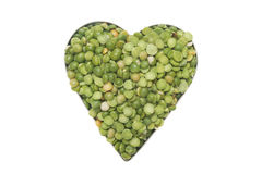 Split pea heart Stock Photo