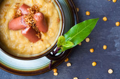 Split pea soup. Royalty Free Stock Images