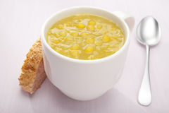 Split Pea Soup In A Mug Royalty Free Stock Image