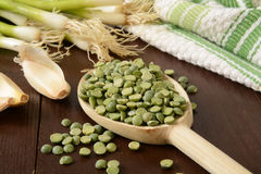 Split pea soup ingredients Stock Images