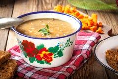 Split pea soup. Royalty Free Stock Photo