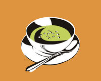 The split pea soup Royalty Free Stock Photography