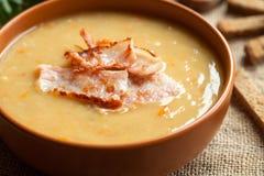 Split pea soup traditional german homemade recipe Stock Photography