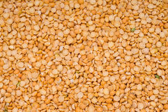 Split peas background. Dried-up  split peas background, close-up, cooking ingredients Stock Photo