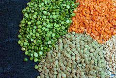 Split peas and lentils left Royalty Free Stock Photography
