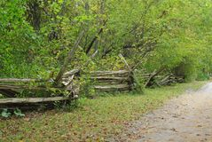 Split-Rail Fence Royalty Free Stock Photography