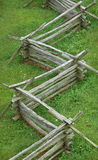 Split rail fence. Fence from above stock photo