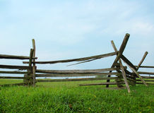 Split Rail Fence. Against sky royalty free stock image