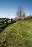 Split Rail Fence - Blue Ridge Parkway, VA, USA royalty free stock photo