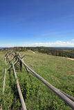 Split Rail Fence on Cement Ridge in the Black Hills Royalty Free Stock Image