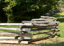 Split rail fence by edge of forest Royalty Free Stock Photos