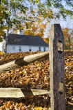 Split rail fence, Essex, Connecticut Stock Image