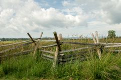 Split Rail Fence. A split rail fence at the Gettysburg National Battlefield Royalty Free Stock Photos