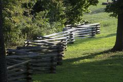 Split rail fence line royalty free stock photography