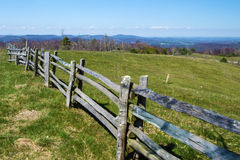 Split Rail Fence and Mountain Meadow - Blue Ridge Parkway royalty free stock images