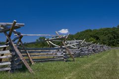 Split Rail Fence Near Forest Stock Images