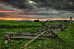 Split-Rail Fence and Observation Tower stock photos