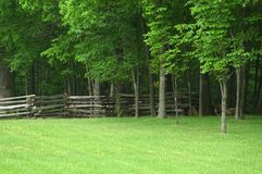 Split Rail Fence Ohio. Split rail fence on a rural piece of property in Ohio Stock Photos