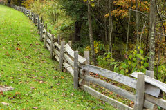 Split Rail Fence at the Peaks of Otter Stock Photo