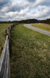 Split Rail Fence and Road royalty free stock images