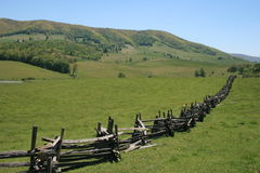 Split-Rail Fence in Virginia Royalty Free Stock Image