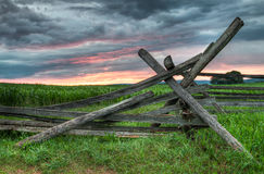 Split Rail Sunrise Stock Photography